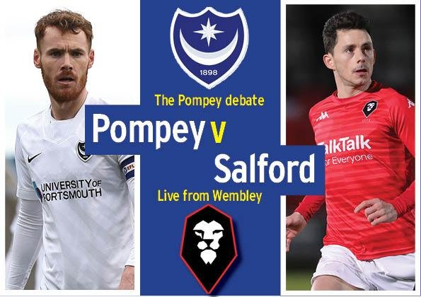 Pompey take on Salford today in the 2020 Papa John's Trophy final