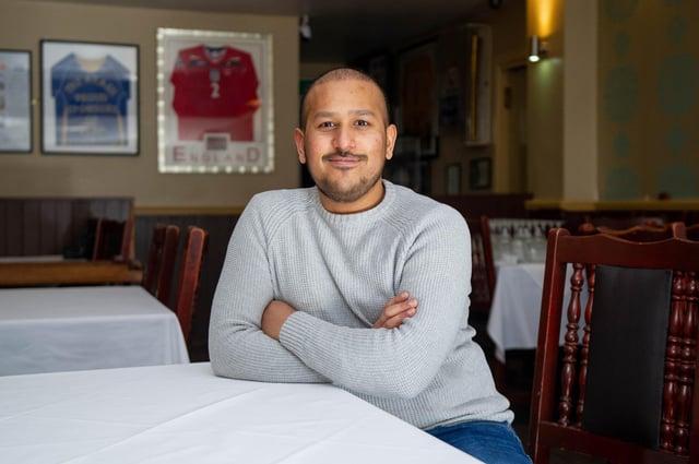 Faz Ahmed inside The Akash restaurant in Albert Road, Southsea.  Picture: Habibur Rahman