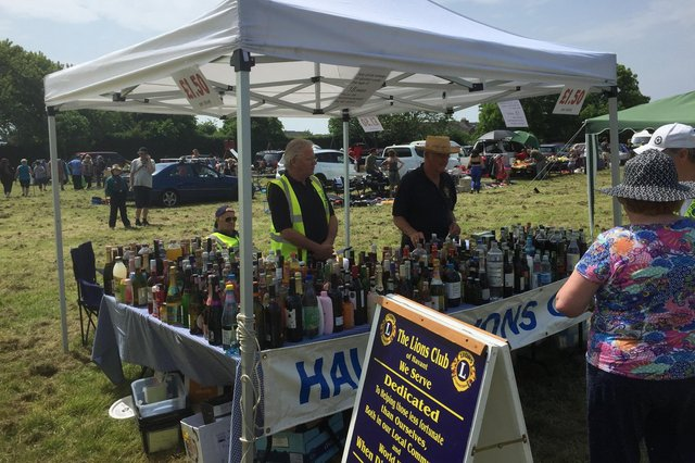 Lions clubs across the area have been supporting their communities throughout the coronavirus crisis. Pictured: On the late May Bank Holiday Havant Lions would normally be fundraising by running a stand at the Hayling Island Lions Donkey Derby