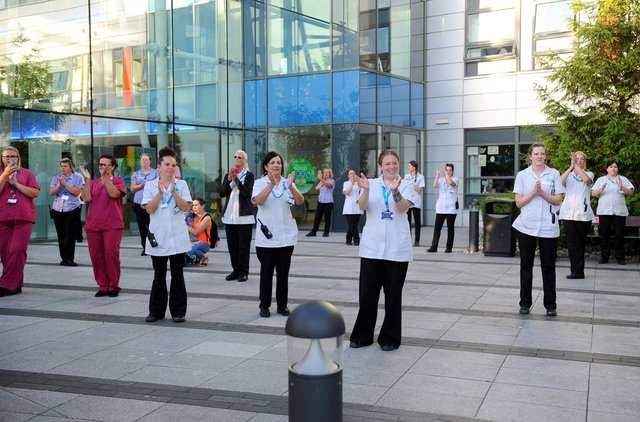 Clap for Carers at Queen Alexandra Hospital in Cosham back in May