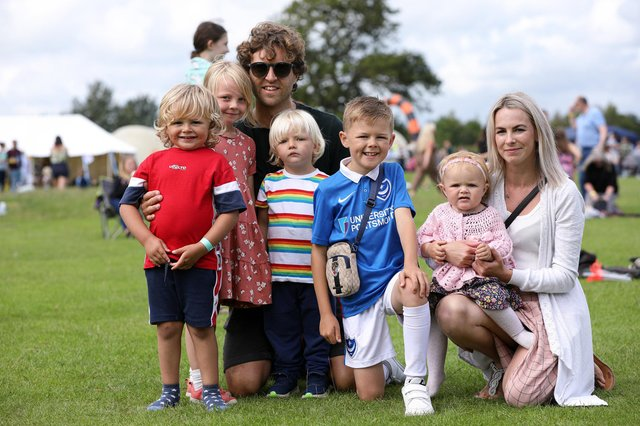 The Mychaleckyj and Davey families. WAVE music festival, Hayling Island. Picture: Chris Moorhouse (jpns 030721-11)