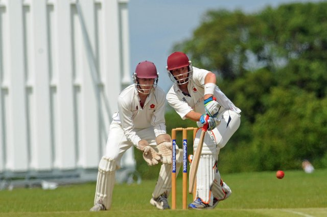 Alex Shepherd impressed with bat and ball for Waterlooville against Bashley 2nds. Picture Ian Hargreaves