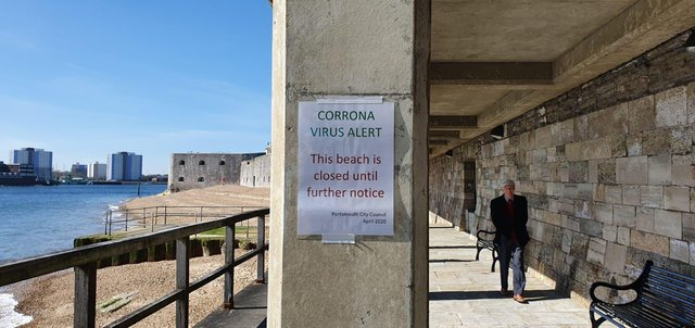 The Hotwalls in Old Portsmouth have been closed in the coronavirus lockdown
