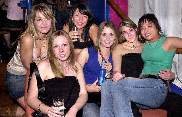 Revellers having a good time at the Bar Bluu complex, Clarendon Road, Southsea - (042347-0007)