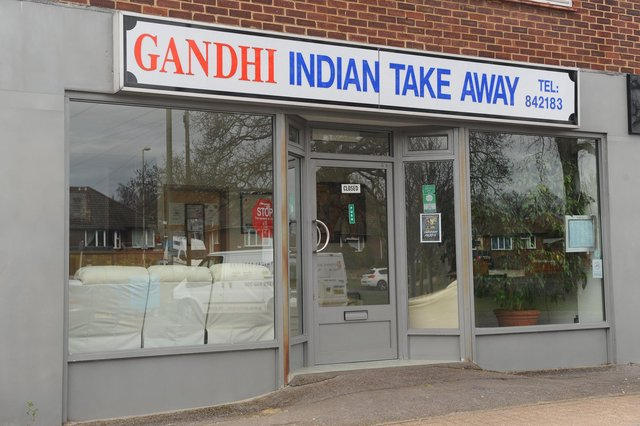 Gandhi restaurant in Anjou Crescent, Fareham.