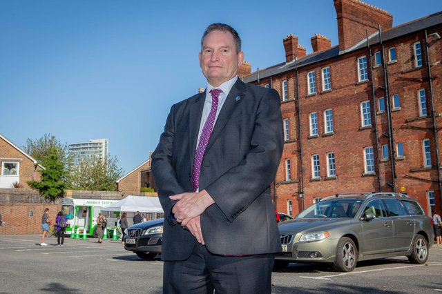 University of Portsmouth vice-chancellor, Professor Graham Galbraith.  Picture: Habibur Rahman