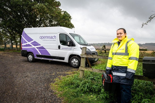 Openreach is reaching more rural locations such as Bishop's Waltham and Rowlands Castle