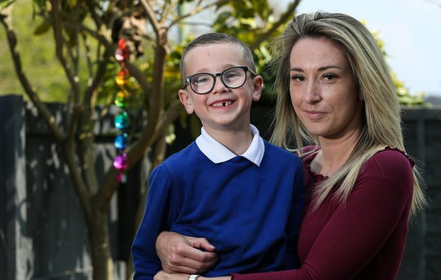 Ralphy Neale, 6, and his mother Jenna pictured in West Leigh. Picture: Chris Moorhouse
