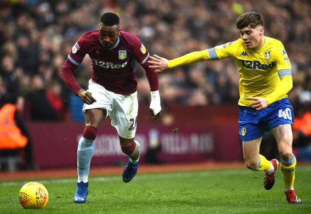 Leif Davis, right, in Championship action against Aston Villa during the 2018-19 season.  Picture: Nathan Stirk/Getty Images