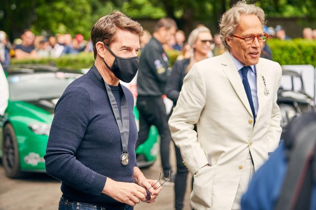 Tom Cruise and the Duke of Richmond at the final day of the Goodwood Festival of Speed. Picture: Dominic James