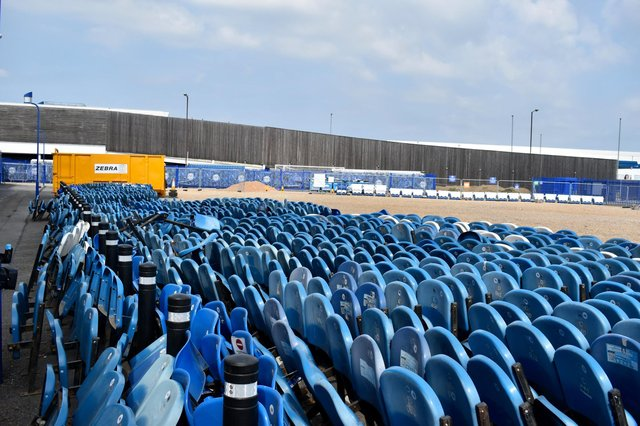 Removed North Stand Upper seats can now be bought online on the Pompey website.  Picture: Portsmouth FC