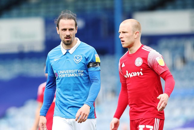 Ryan Williams is keen to remain at Fratton Park as he waits for news on whether he has a Pompey future. Picture: Joe Pepler