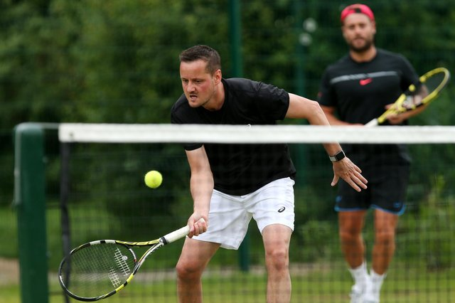 Players can return to outdoor tennis courts from next Monday. Picture: Chris Moorhouse