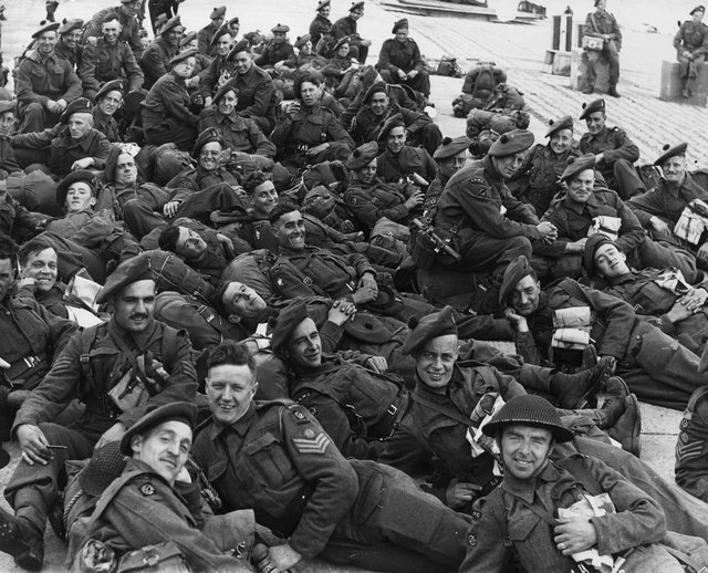 British soldiers of the RAMC (Royal Army Medical Corps) during the Normandy Landings, June 1944. (Photo by Keystone/Hulton Archive/Getty Images)