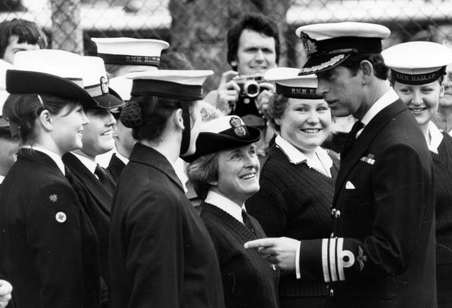 Prince Charles visiting Royal Naval Hospital in Haslar, 1982. The News PP4781
