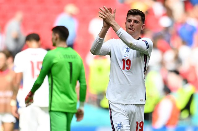 Mason Mount is expected to line up for England tonight in their European Championship semi-final against Denmark.  Picture: Pool/Getty Images