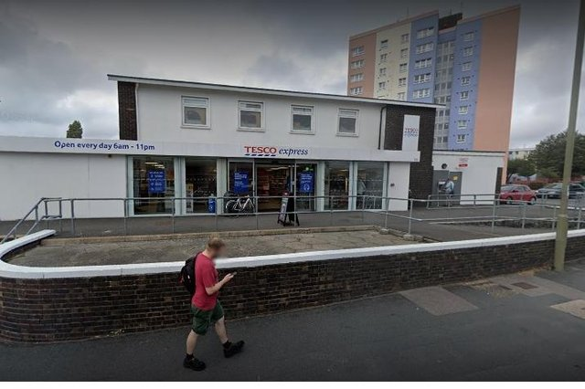 The Tesco store in Forton Road, Gosport, where the attack took place on April 2. Photo: Google.