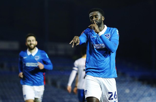 Jordy Hiwula's return has given Pompey a 'sexy bench' according to Danny Cowley. Picture: Joe Pepler