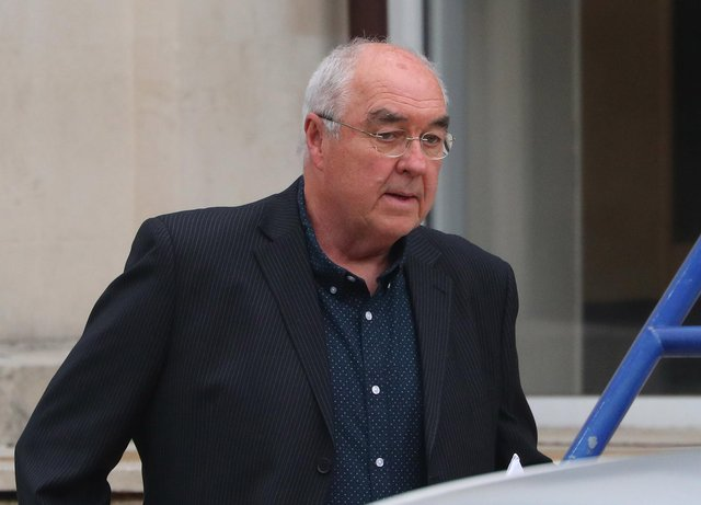 Phillip Holmes pictured leaving Portsmouth Magistrates Court where he appeared for a Blue Badge offence. (220421-7042)