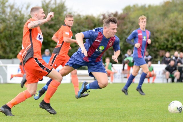 US Portsmouth and AFC Portchester in FA Vase action last October. The teams are due to meet twice more in the next few weeks. Pic: Martyn White.