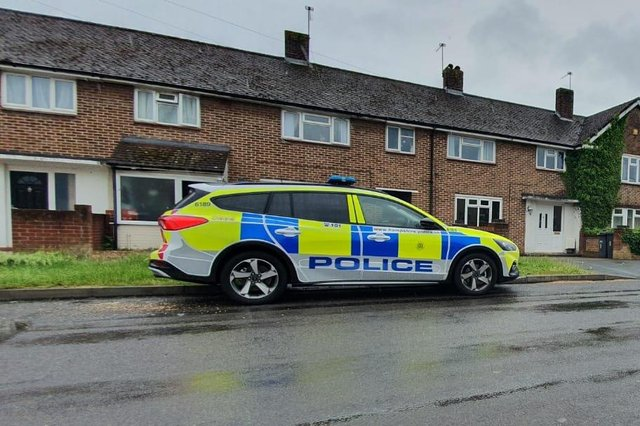 Police in Botley Drive, Leigh Park. Picture: Habibur Rahman