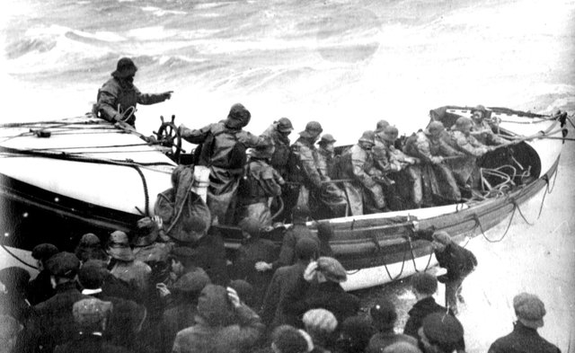 The launch of the lifeboat off Southsea beach in 1911. The life-boat station is now located at the entrance to Langstone Harbour on the eastern shore of Portsea Island. Lifeboat. Picture: Courtesy of Ray Butcher