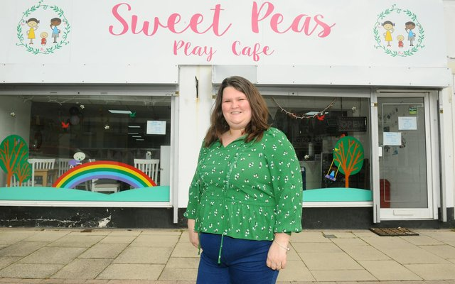 Claire White, owner of Sweet Peas Play Cafe in West Street, Fareham.Picture: Sarah Standing (260321-5582)