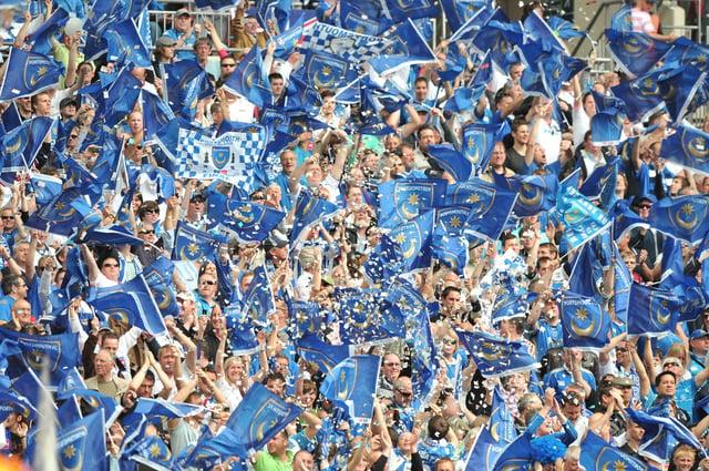 Pompey fans at Wembley