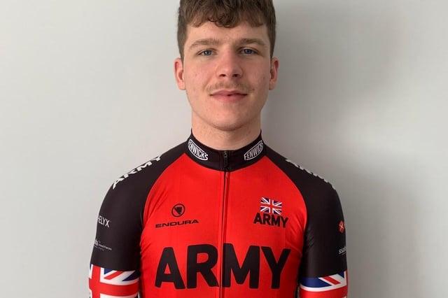 Reservist Gunner Johnathon Dorward, 21, is part of the British Army's cycling team