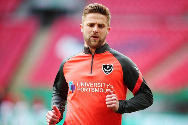 Pompey's Michael Jacobs has attracted interest from Ipswich. Picture: Joe Pepler