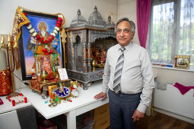 Jagdish Jethwa has been nominated for a national diversity award for his work promoting faith and belief.Pictured: Jagdish Jethwa at his home in Paulsgrove, Portsmouth on 27 May 2021Picture: Habibur Rahman
