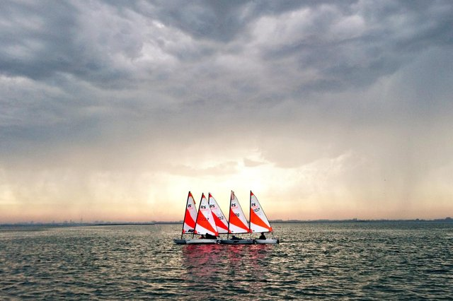 Stewart Johnson from Havant has been crowned this month's winner in the prestigious RYA National 2020 ilovesailing calendar competition with his image 'Safety in numbers'
