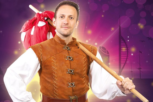 Sean Smith stars in the title role of Dick Whittington, The Pompey Panto, at The Kings Theatre