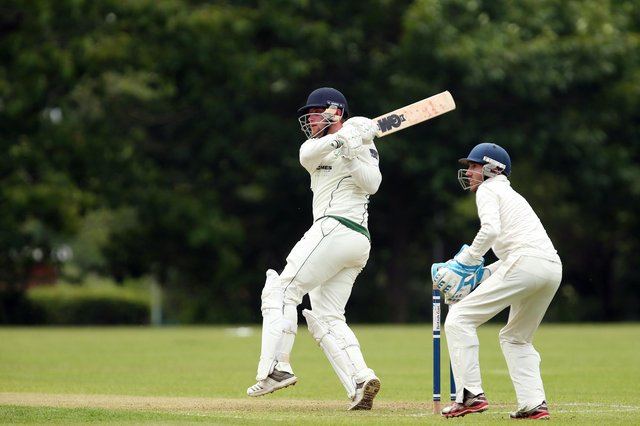 Josh Hill hit an unbeaten 45 as Sarisbury Athletic claimed their first Southern Premier League Divison 1 victory of the season. Picture: Chris Moorhouse.