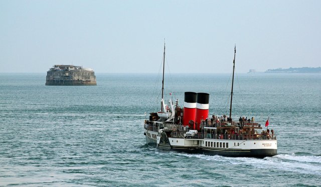 P S Waverley taken from the round tower taken by Sam Towner