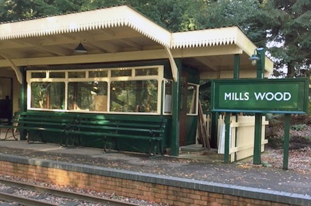 Former car No.5 restored as a waiting room.  Picture: Bernie Knibbs