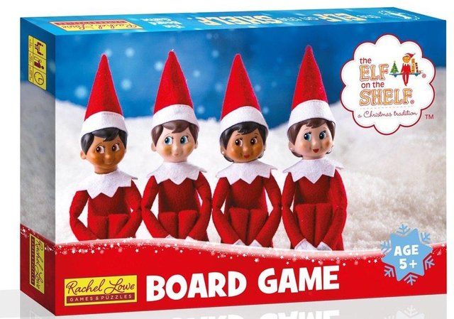 The Elf on the Shelf board game, designed by Rachel Lowe, from Portsmouth