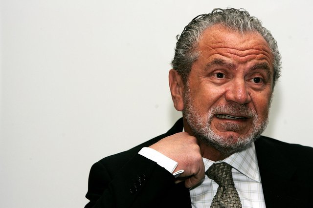 Lord Alan Sugar. (Photo by Claire Greenway/Getty Images)