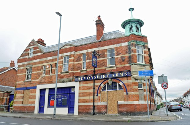 Located in Devonshire Avenue, Southsea The Devonshire Arms was built in the early 1900s. After a downturn the pub was sold and closed down in April 2012. It has been converted into a shop and residential accommodation.