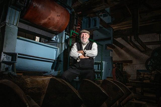 Richard Newman near one of the brick making machines at Bursledon Brickworks  Picture: Habibur Rahman