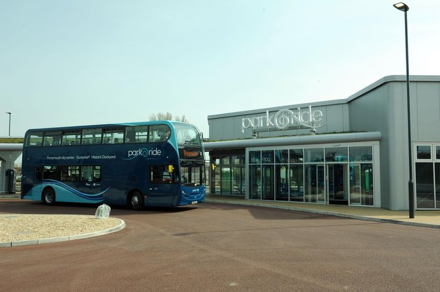 Portsmouth Park and Ride at Tipner. Picture: Paul Jacobs (141038-9)