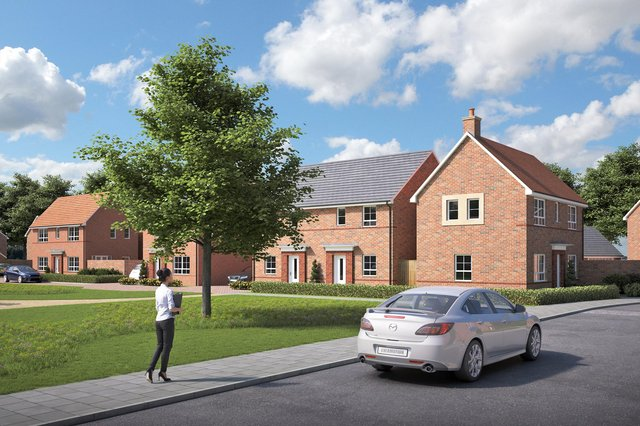 Barratt Homes' visualisation of how homes off Sinah Lane, Hayling Island could look