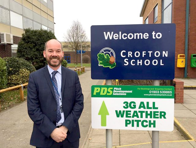 Crofton School headteacher, Simon Harrison, has warned schools could still close if there is any 'substantial' variation in current staff pupil ratios.  Picture: Loughlan Campbell