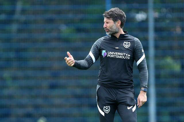 Pompey head coach Danny Cowley.  Picture: Chris Moorhouse