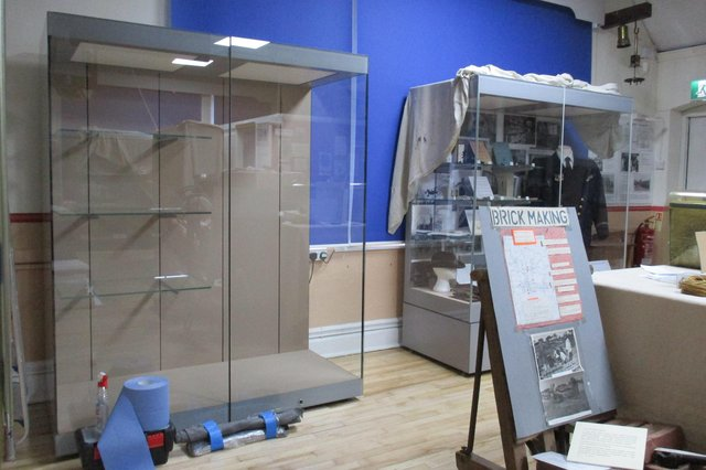 New display cabinet at Emsworth Museum