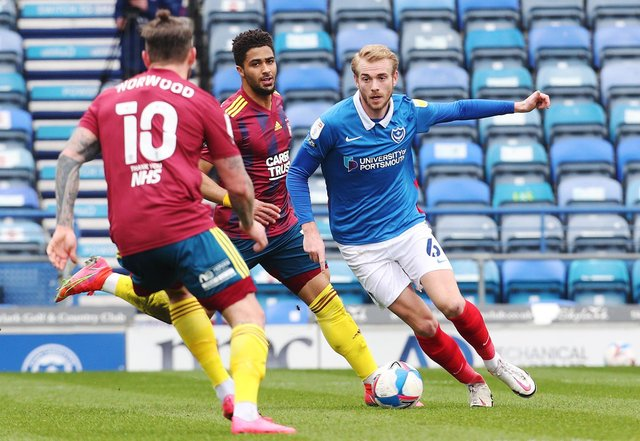 The long-serving Jack Whatmough is among 11 Pompey players out of contract this summer. Picture: Joe Pepler