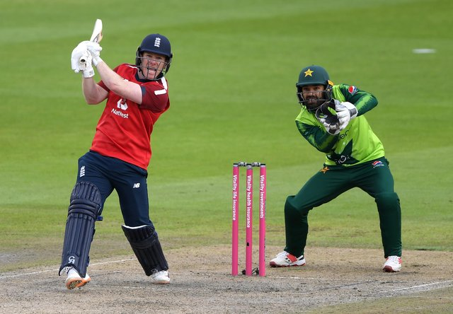 'There's no better time for everyone, young and old, to get back to having fun by getting outdoors, being active and playing sport' says England skipper Eoin Morgan as lockdown restrictions on outdoor team sports are lifted today.