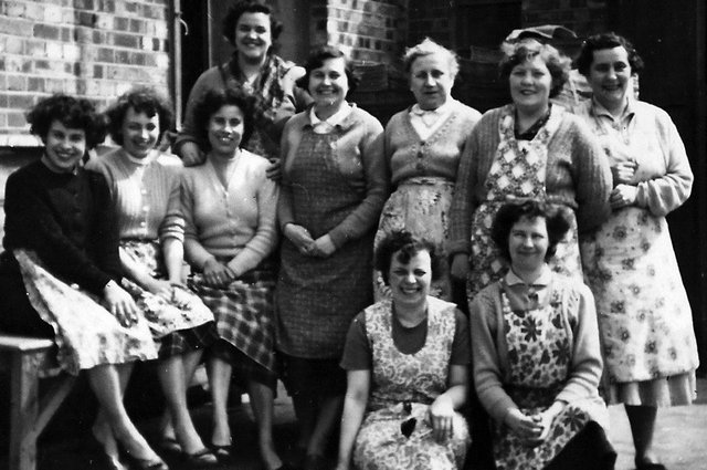 Women who worked at Drings, the cardboard factory at Hilsea. Picture: Beryl Price (née Purkis).