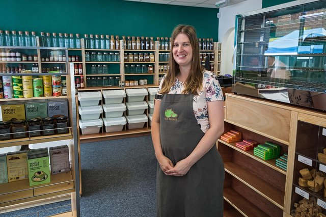 Chloe Cobb (32) founder of the newly opened Eco Freaks Emporium in West Street, Havant. Picture: Mike Cooter (030721)