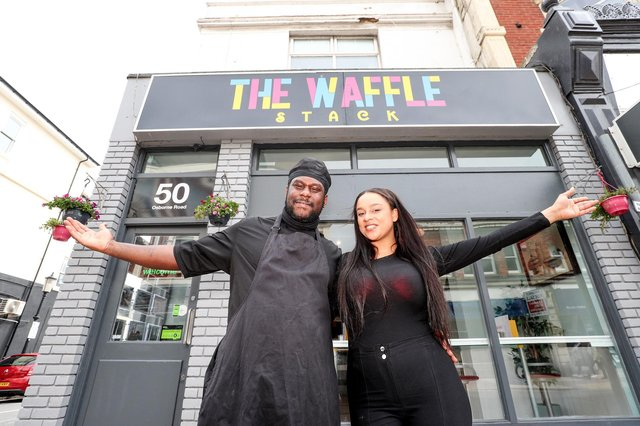 Kathleen Houghton and her partner Kay Adu who run The Waffle Stack in Southsea.Picture: Stuart Martin (220421-7042)